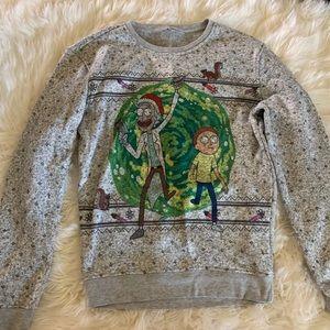 Rick and Morty Christmas Sweater ugly